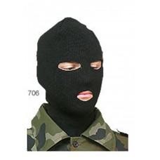 """Лыжная шлем-маска Очки """"ХСН"""" (черная) 706"""