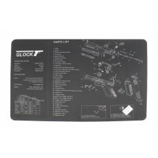 Коврик для чистки оружия Glock 42,5х28 см (черно-белый)