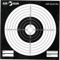 Мишени чёрные AIR-GUN.RU (50 шт)
