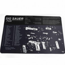 Коврик для чистки оружия Sig Sauer P226 42,5х28 см (черно-белый)