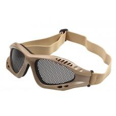Очки-маска Goggle сетчатые хаки-песок №28